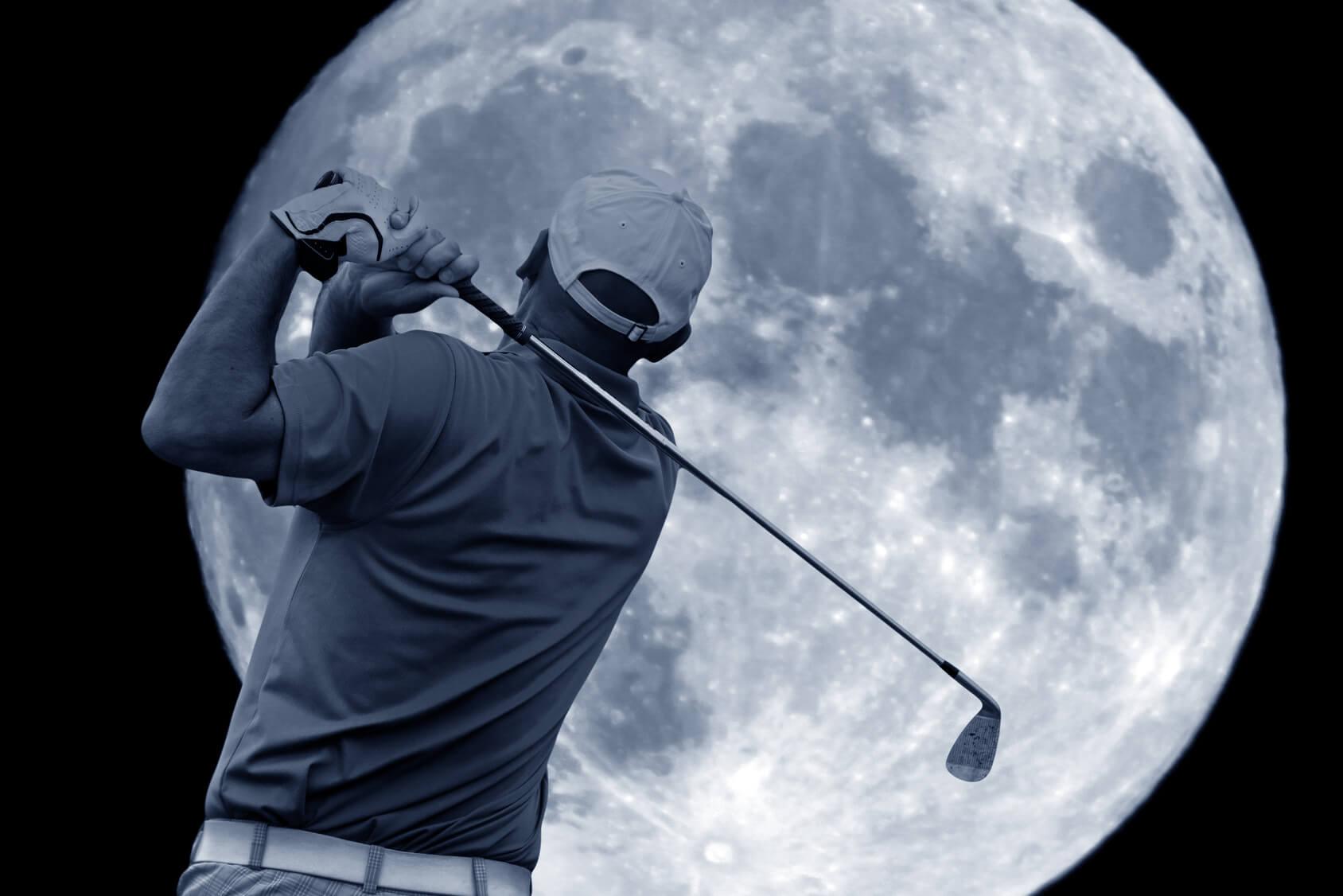 Golf Auf Dem Mond