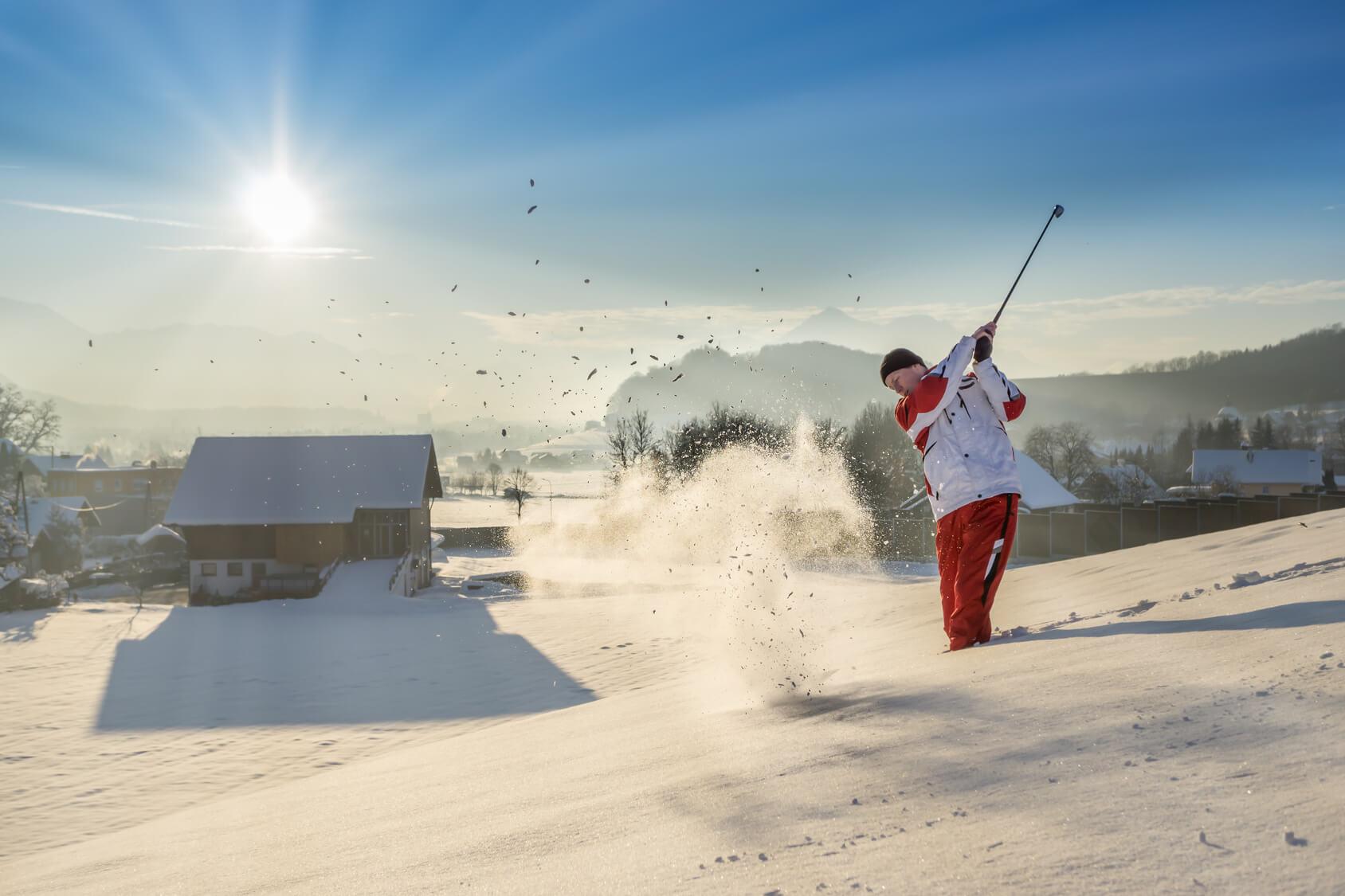 Golfer im Winter